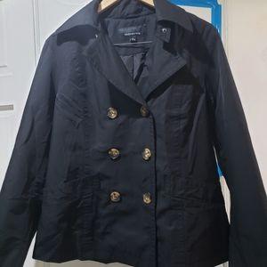 Jones New York Double Breasted Trench Coat